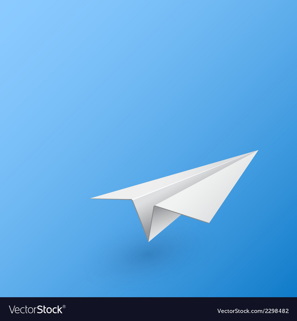 Abstract background with paper airplane vector | Price: 1 Credit (USD $1)