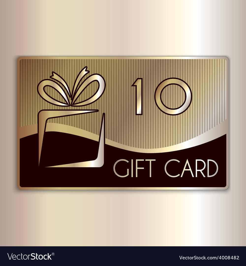 Abstract gift card for ten in gold and vector | Price: 1 Credit (USD $1)
