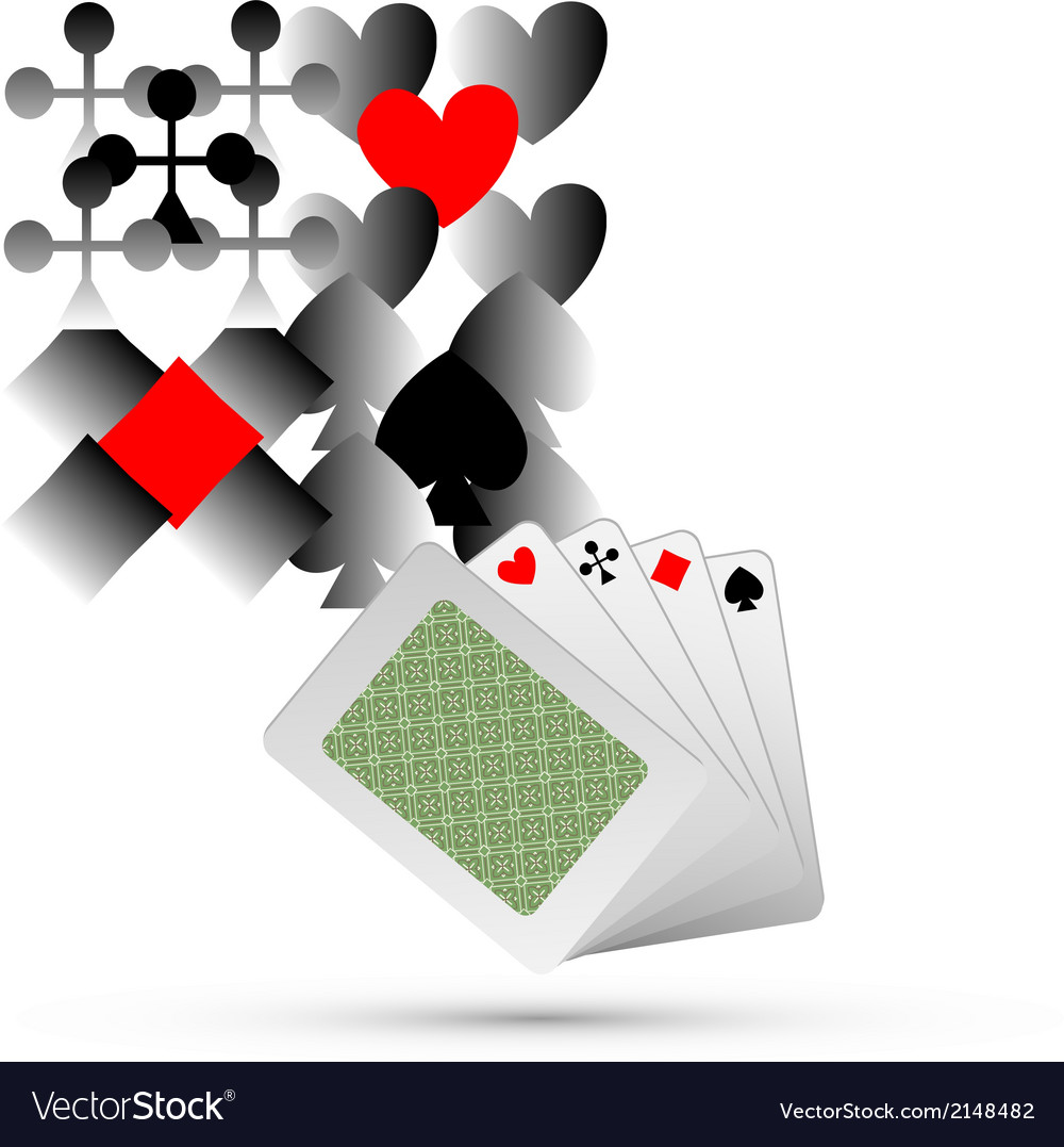 Abstract playing card elements background vector | Price: 1 Credit (USD $1)