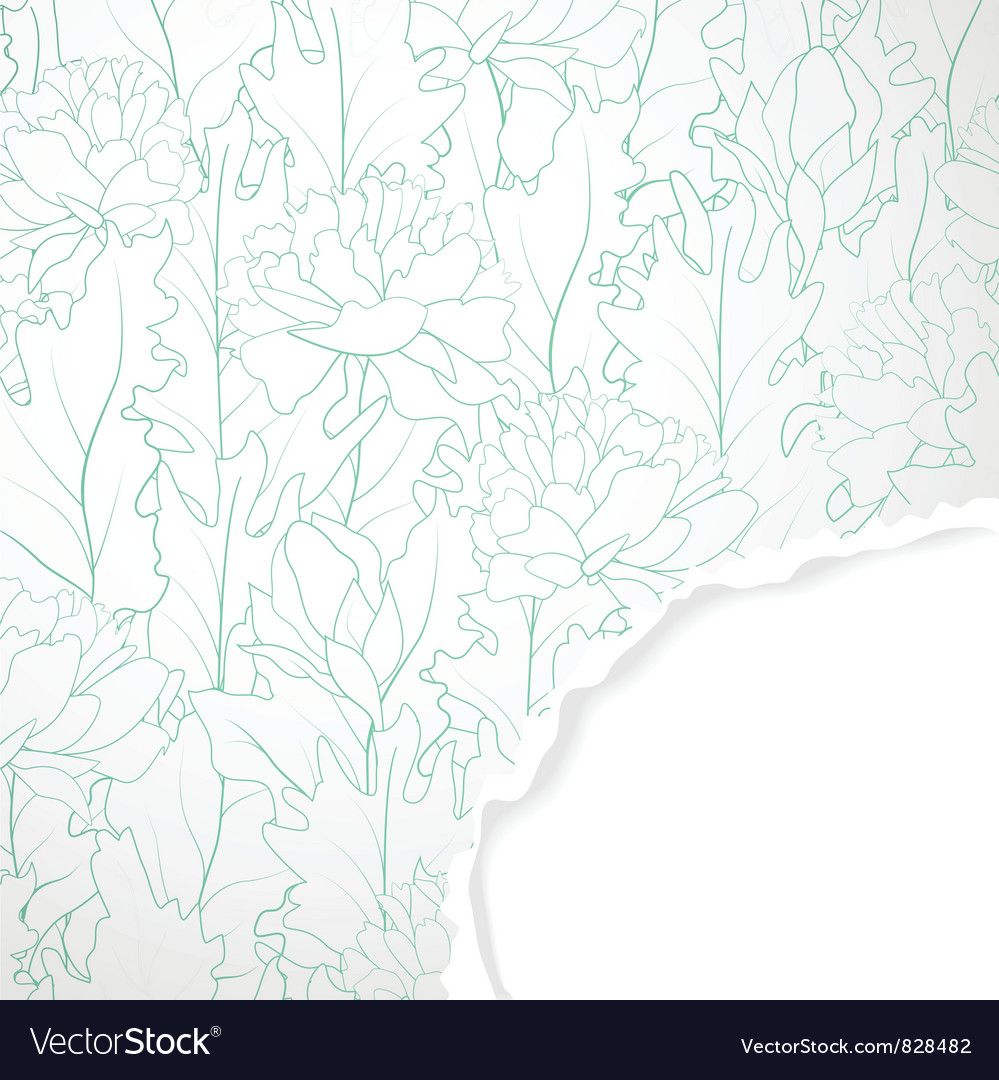 Background with torn corner vector | Price: 1 Credit (USD $1)
