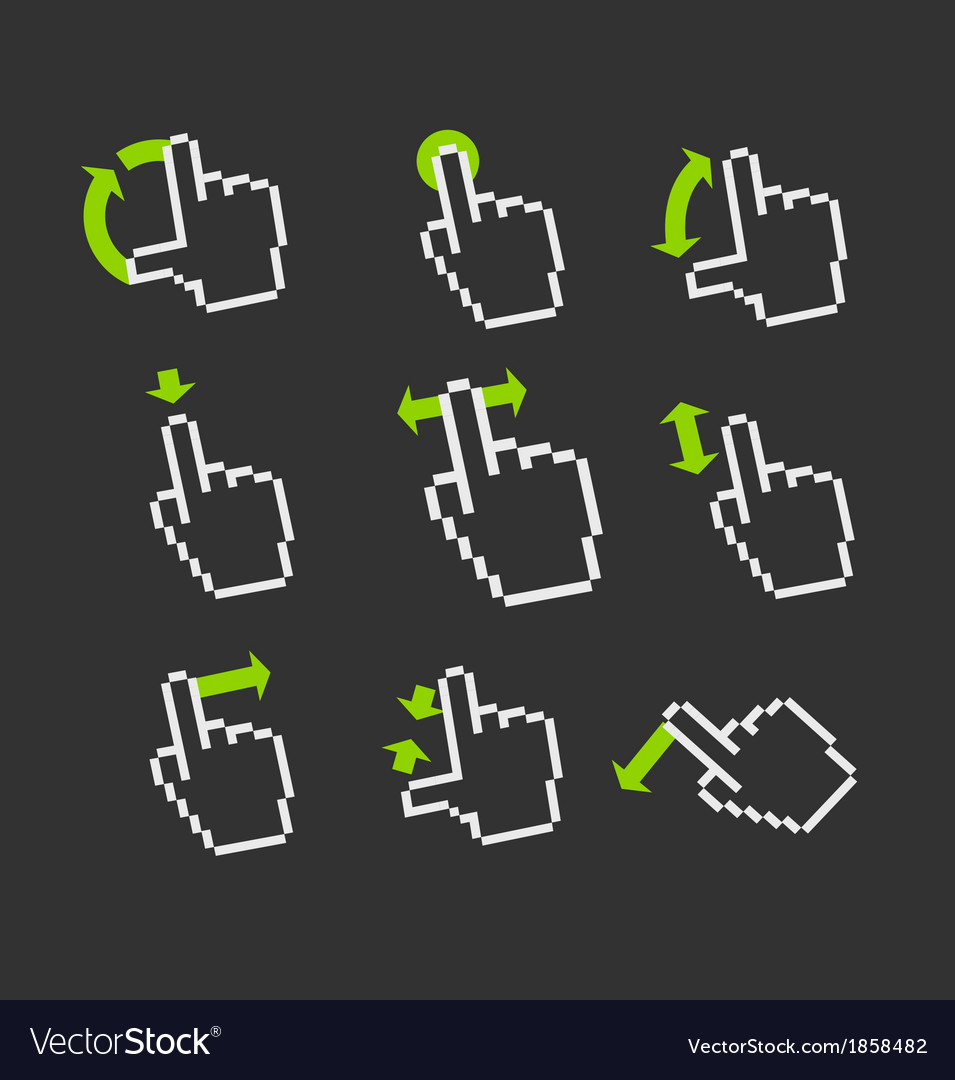 Basic gestures to work with modern gadgets vector | Price: 1 Credit (USD $1)
