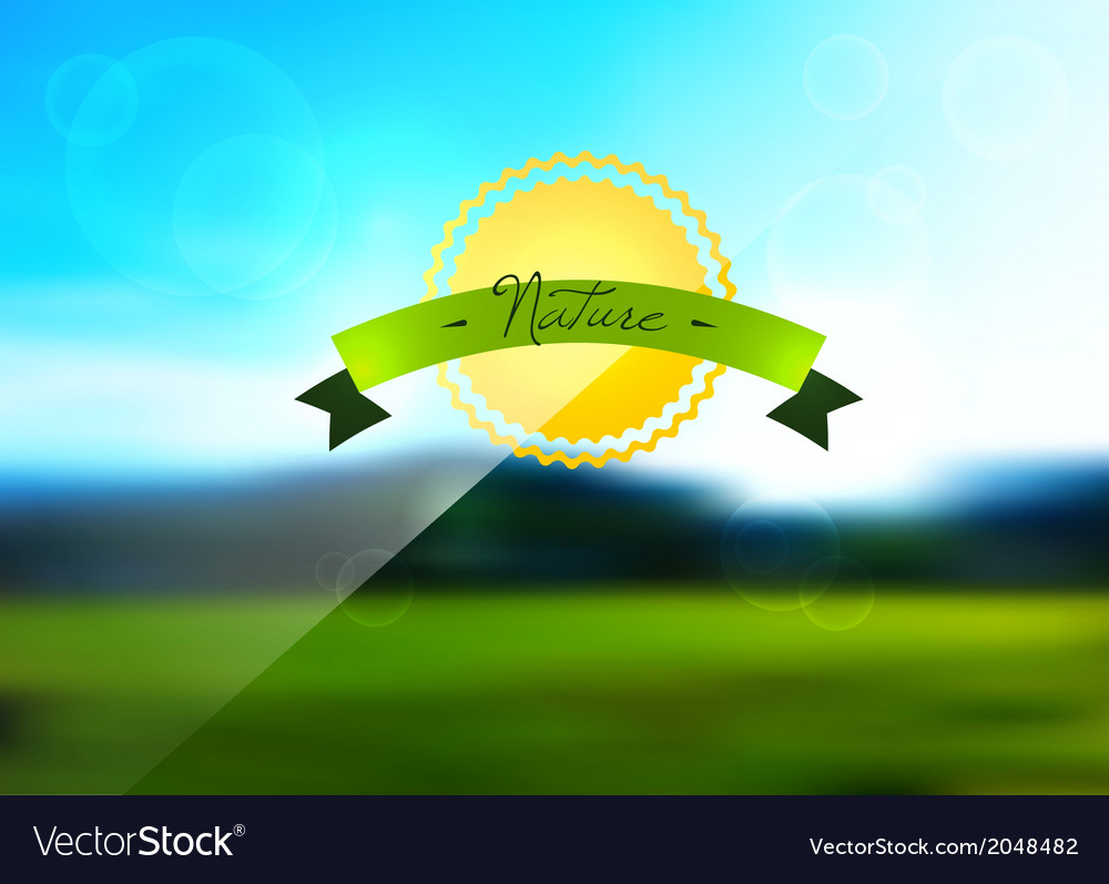 Blurred nature background vector