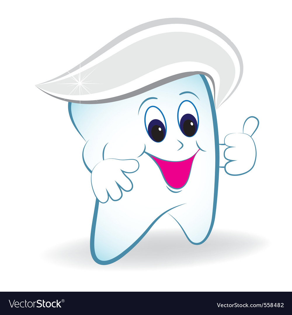 Cartoon tooth vector   Price: 1 Credit (USD $1)