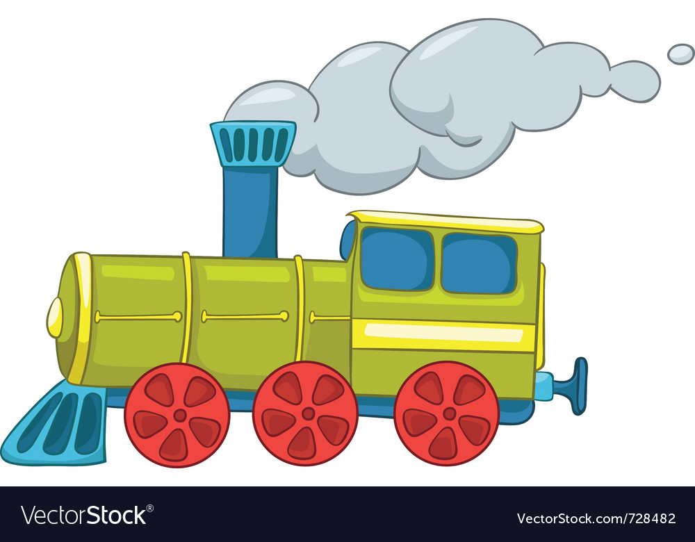 Cartoon train vector | Price: 1 Credit (USD $1)