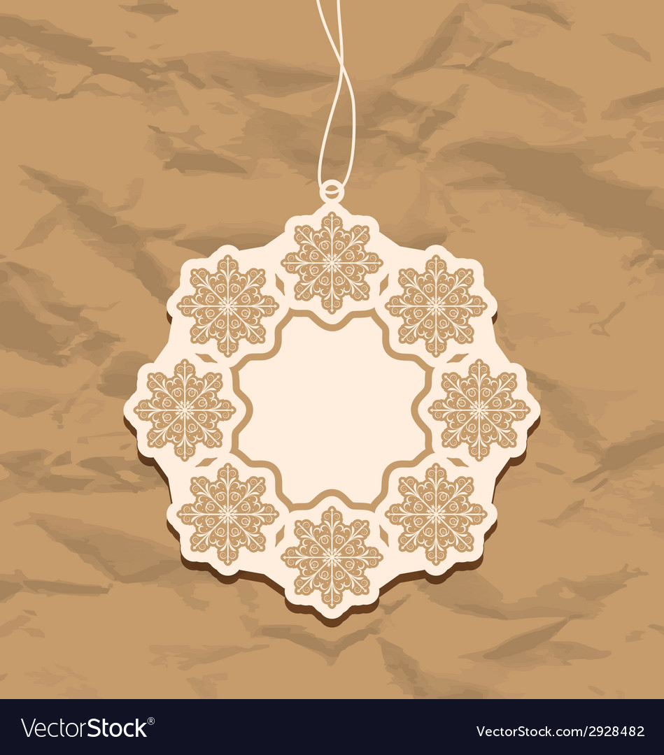 Christmas blank badge vintage style vector | Price: 1 Credit (USD $1)
