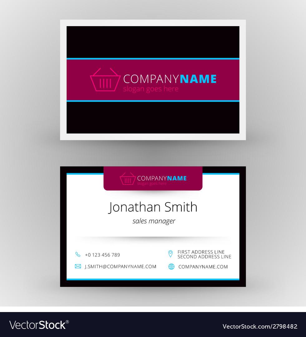 Creative business card design print template vector | Price: 1 Credit (USD $1)