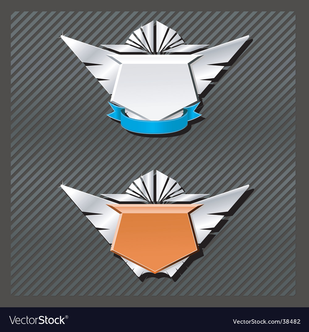 Emblems series wings vector | Price: 1 Credit (USD $1)