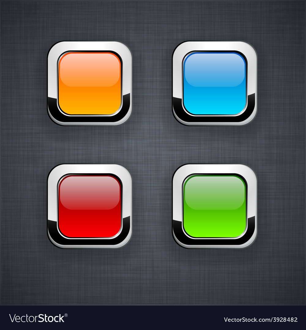 Glossy 3d square buttons vector | Price: 1 Credit (USD $1)