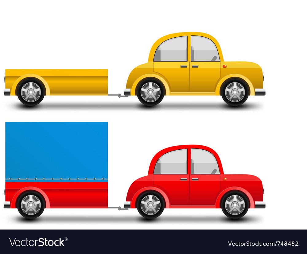 Glossy car  trailer vector | Price: 1 Credit (USD $1)