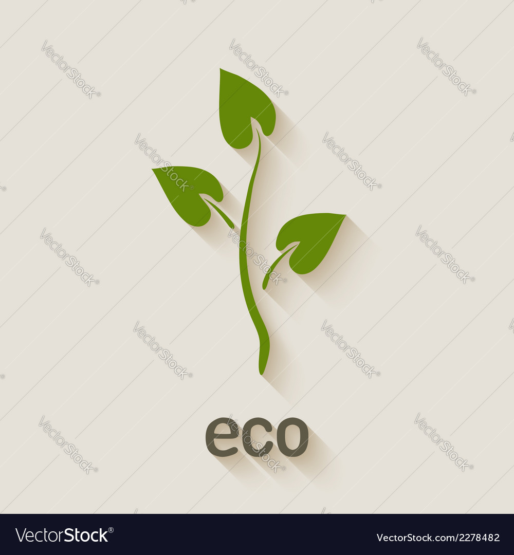 Green eco icon vector | Price: 1 Credit (USD $1)