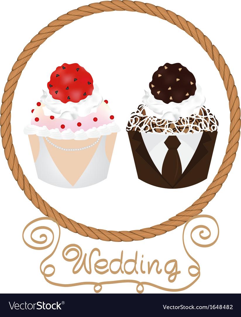 Wedding cupcake vector | Price: 1 Credit (USD $1)