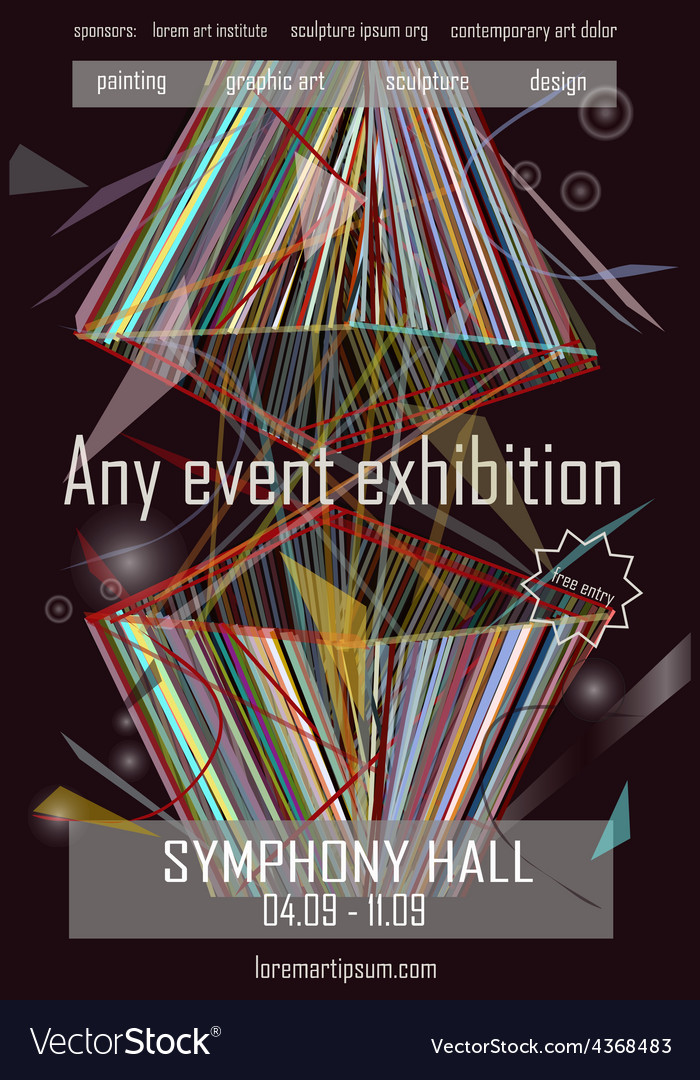 Any event exhibition poster template design vector | Price: 1 Credit (USD $1)