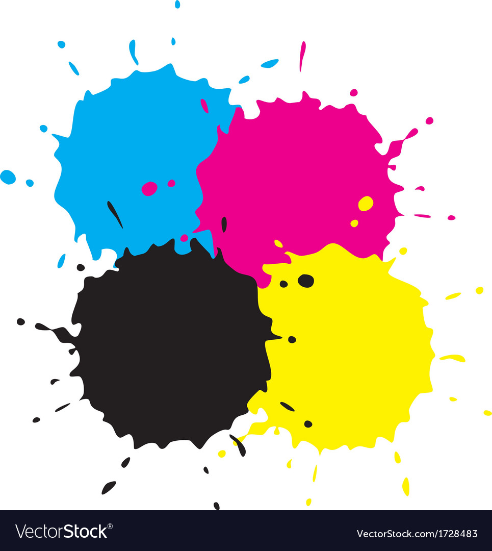 Cmyk grunge spots vector | Price: 1 Credit (USD $1)