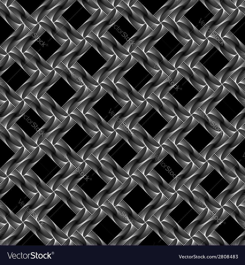 Design seamless diamond grid pattern vector | Price: 1 Credit (USD $1)