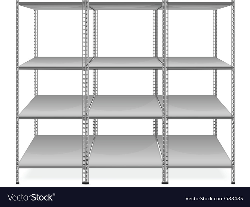 Empty bookshelves vector | Price: 1 Credit (USD $1)