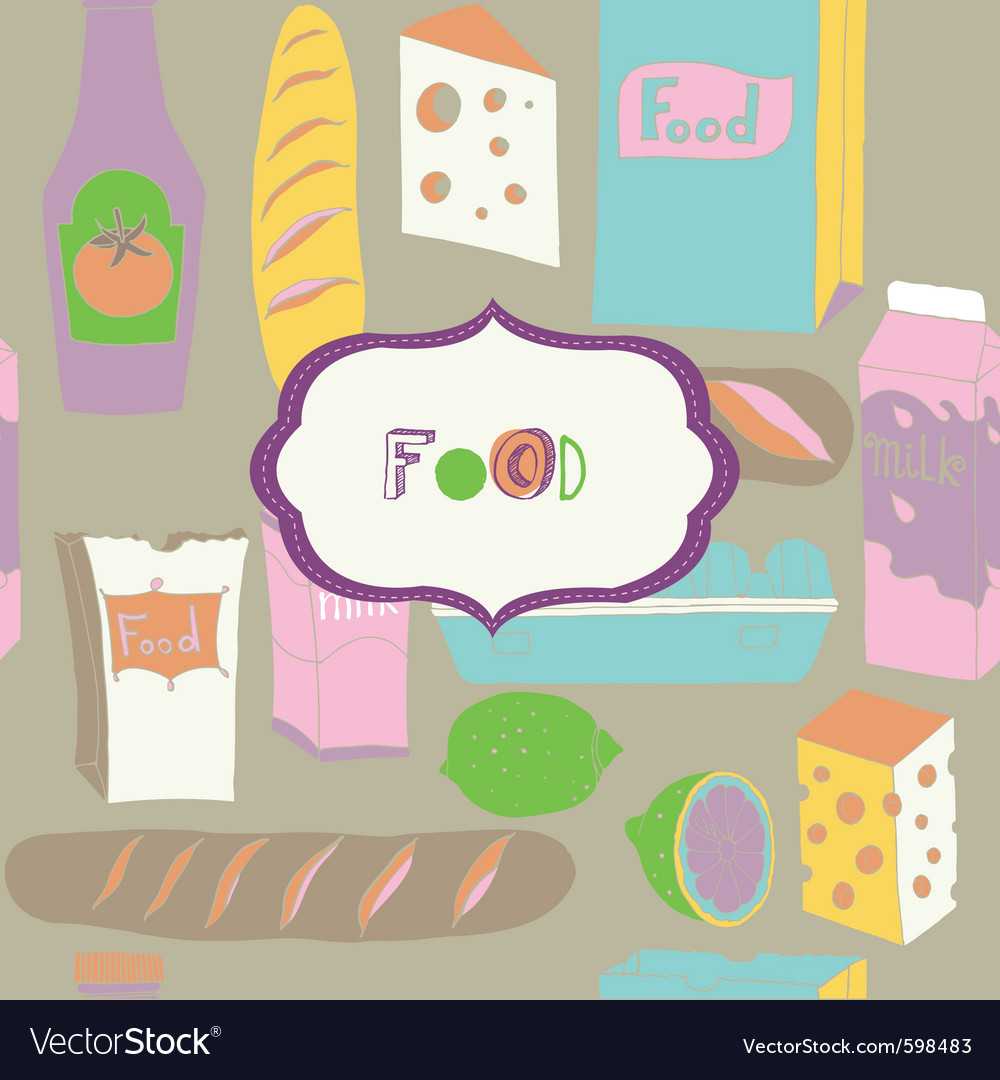 Food vintage wallpaper vector | Price: 1 Credit (USD $1)
