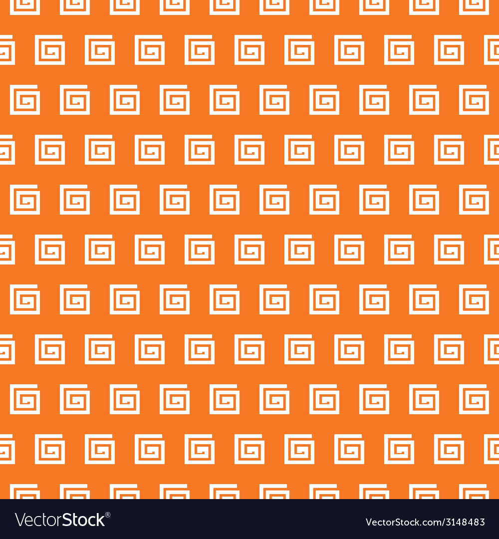 Greek seamless pattern orange and white colors vector | Price: 1 Credit (USD $1)