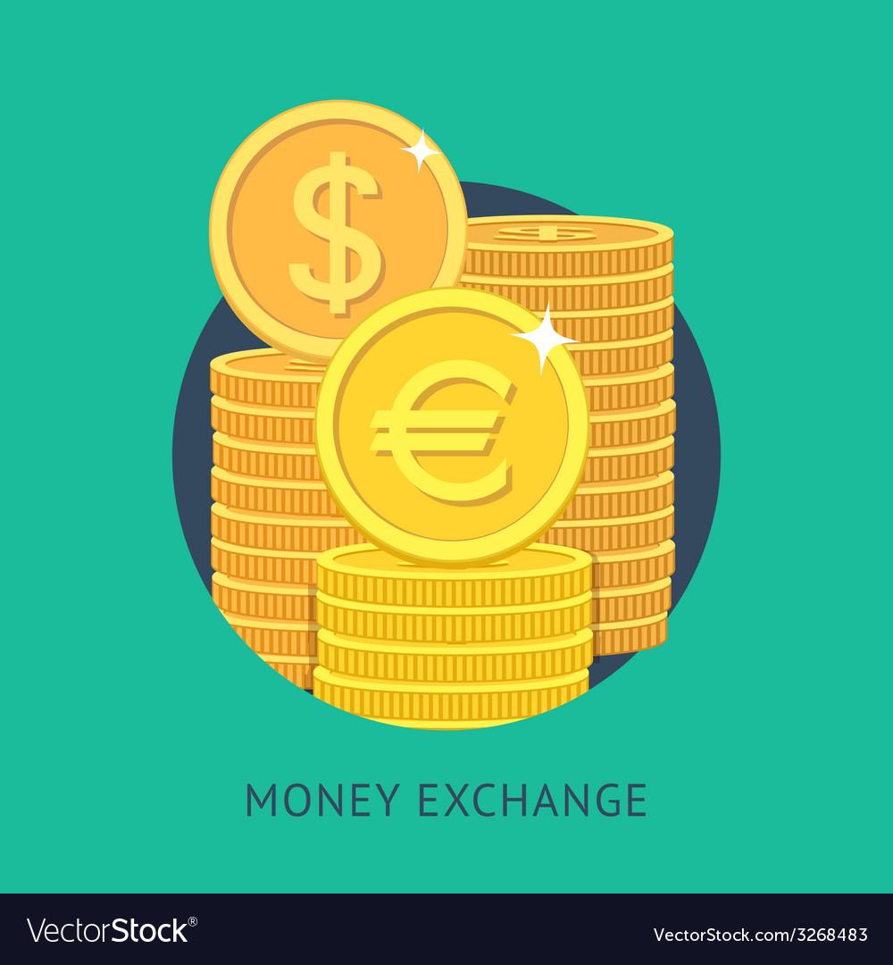 Money exchange vector | Price: 1 Credit (USD $1)