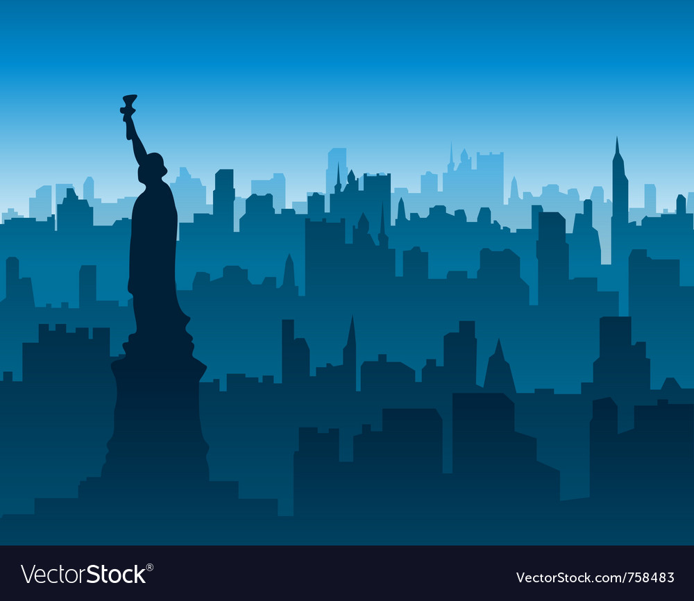 New york cityscape background vector | Price: 1 Credit (USD $1)