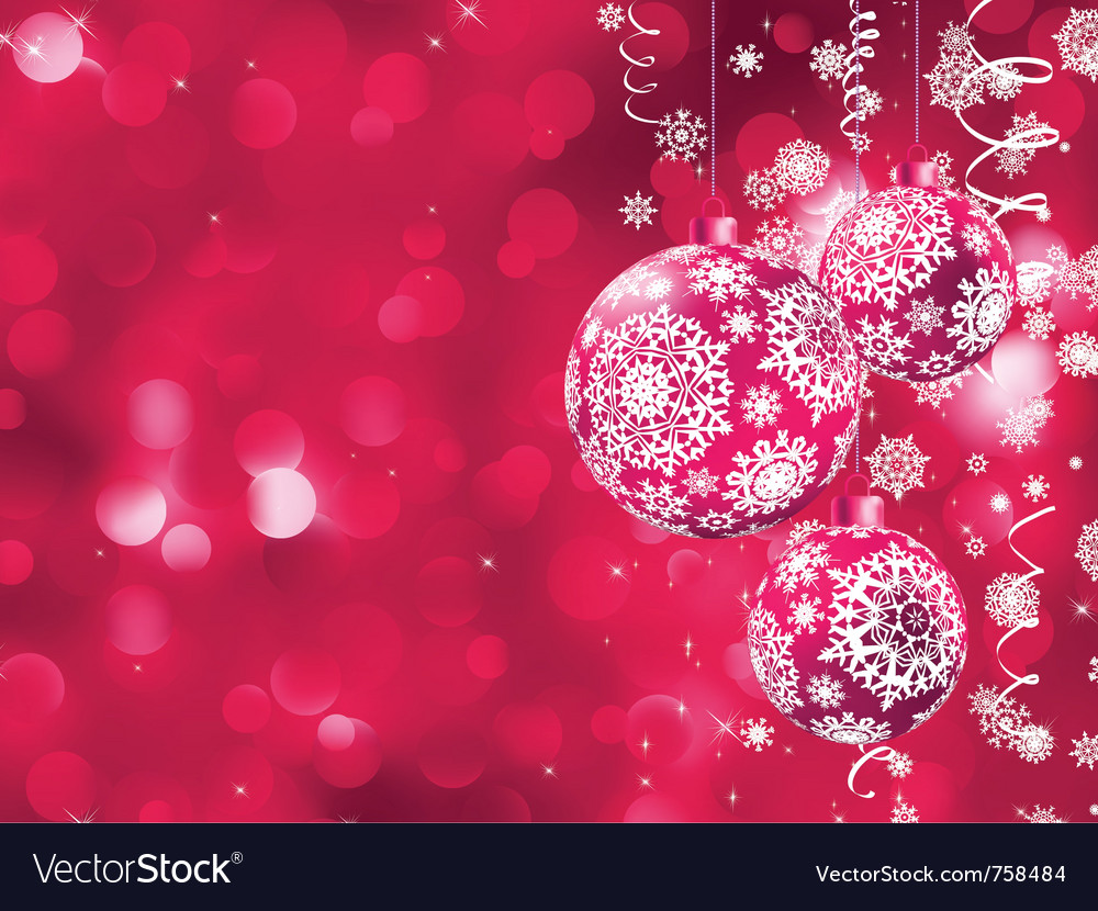 Elegant christmas card vector | Price: 1 Credit (USD $1)