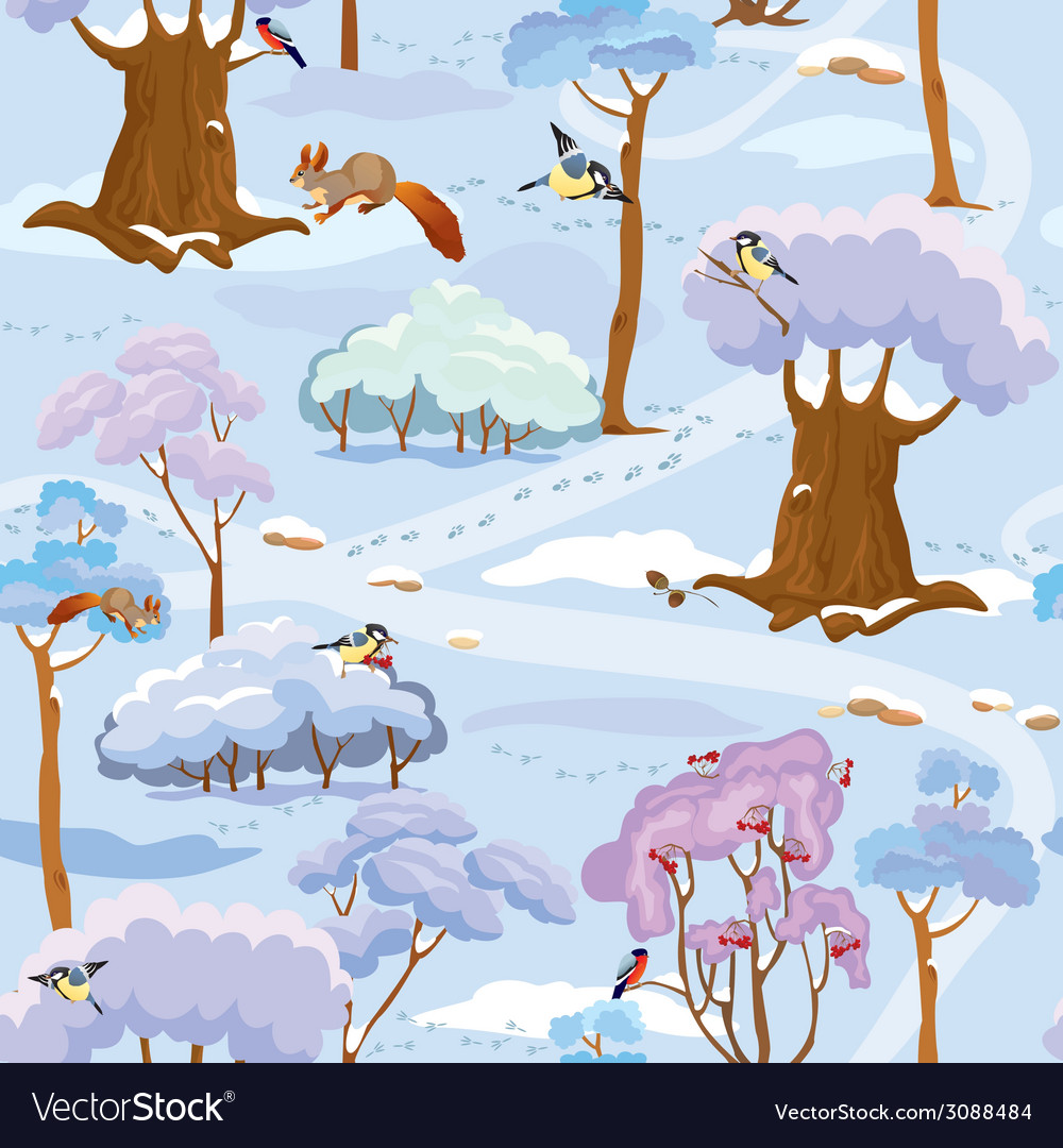 Forest seamless winter 380 vector | Price: 1 Credit (USD $1)