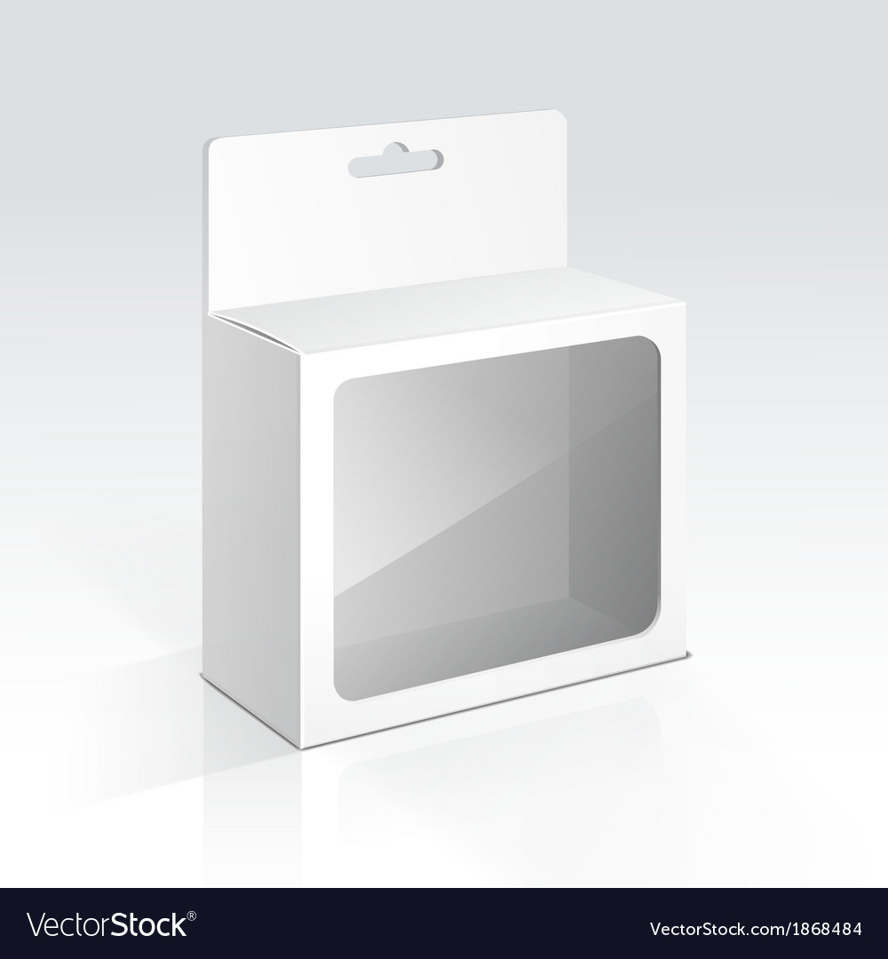 Hanging blank box with transparent window vector | Price: 1 Credit (USD $1)