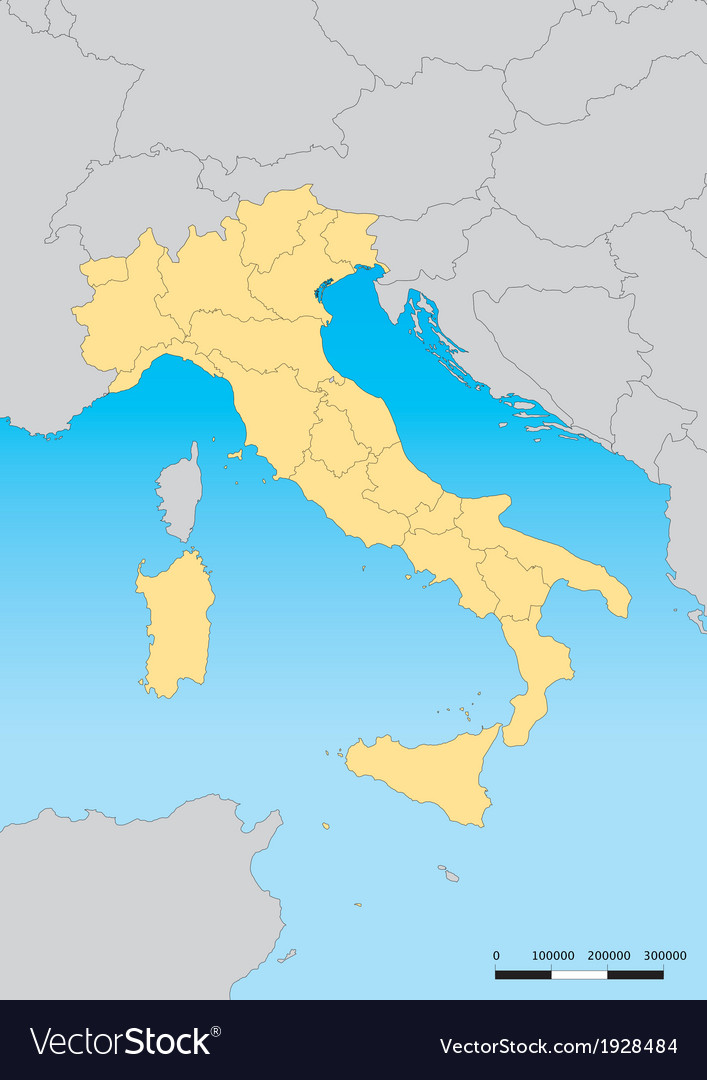 Italy map vector | Price: 1 Credit (USD $1)