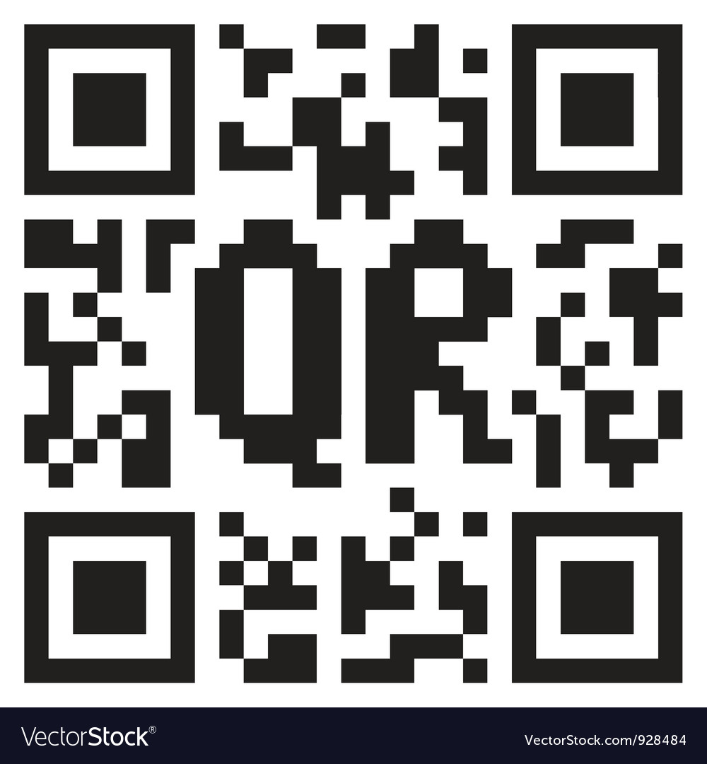 Qr code abstract template vector | Price: 1 Credit (USD $1)