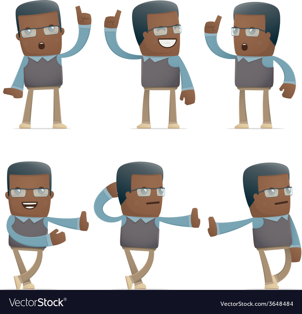 Set of teacher character in different poses vector   Price: 1 Credit (USD $1)