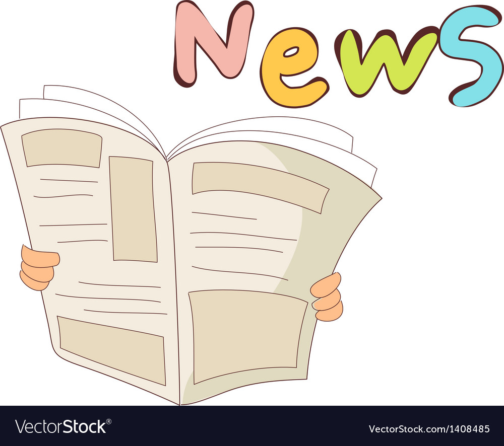A reading a news paper vector | Price: 1 Credit (USD $1)