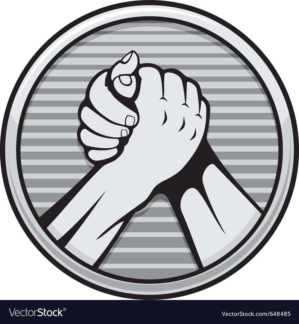 Arm wrestling icon vector | Price: 1 Credit (USD $1)