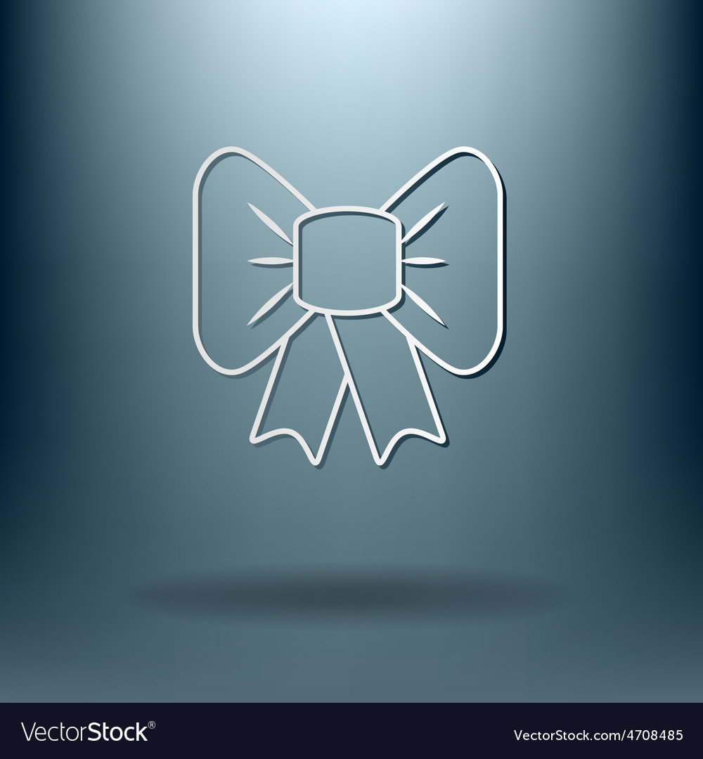 Bow icon vector | Price: 1 Credit (USD $1)