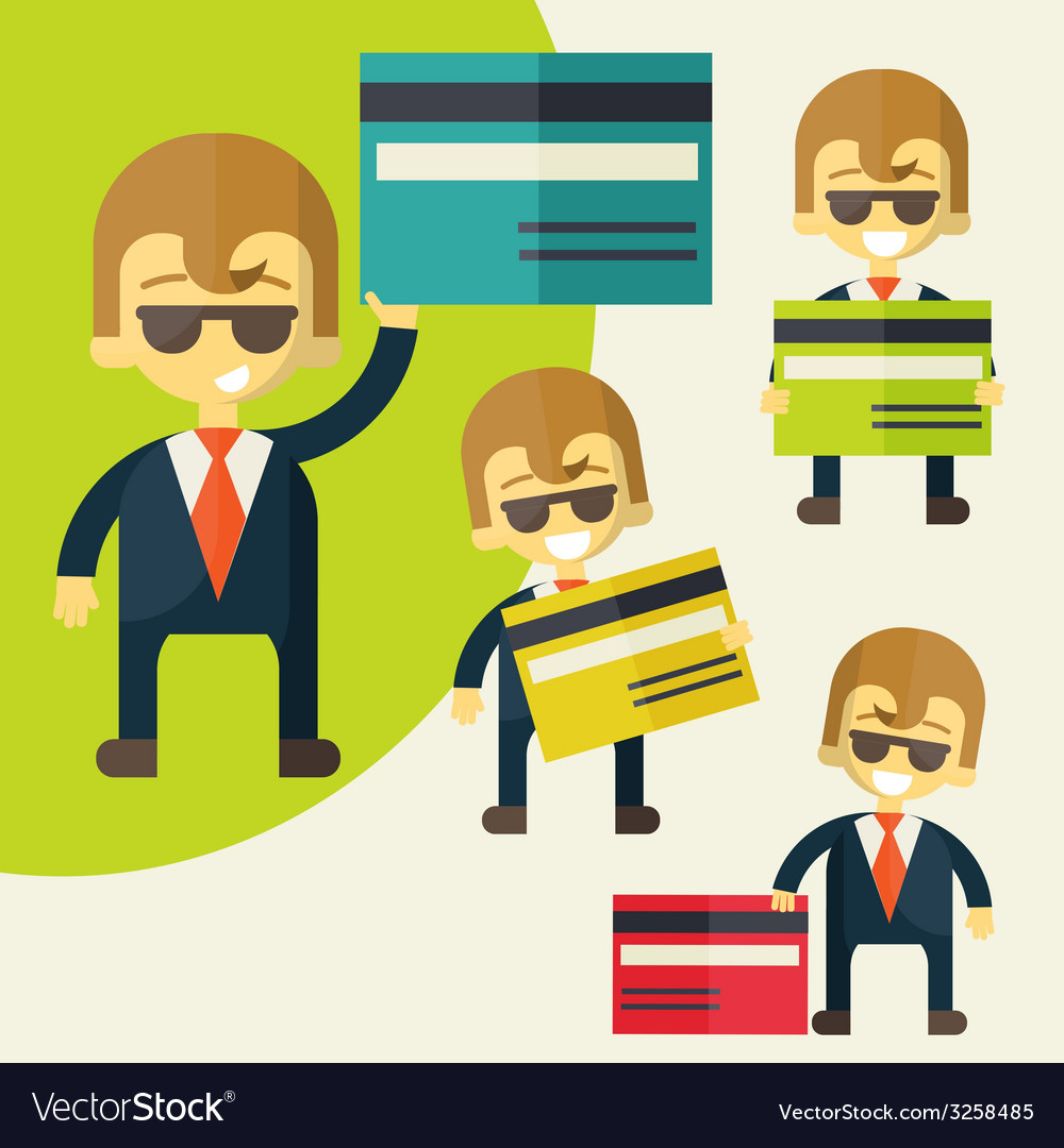 Businessman credit card vector | Price: 1 Credit (USD $1)