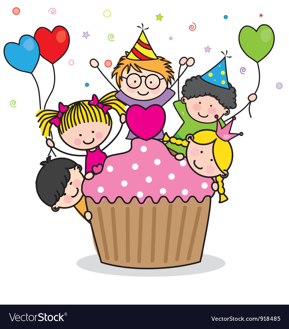 Celebrating birthday party vector | Price: 1 Credit (USD $1)