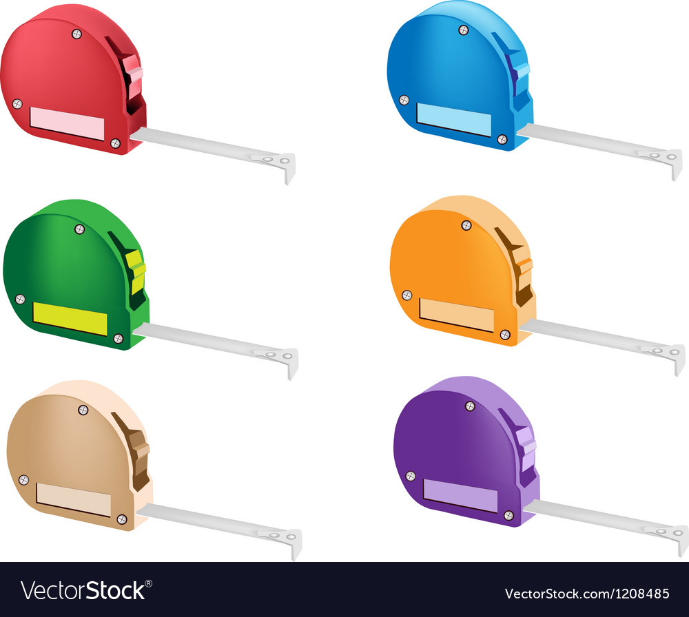 Colorful set of tape measure icons vector | Price: 1 Credit (USD $1)