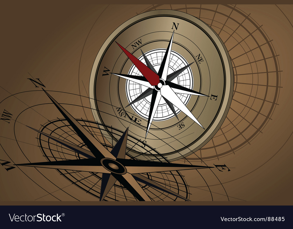 Compass gold vector | Price: 1 Credit (USD $1)