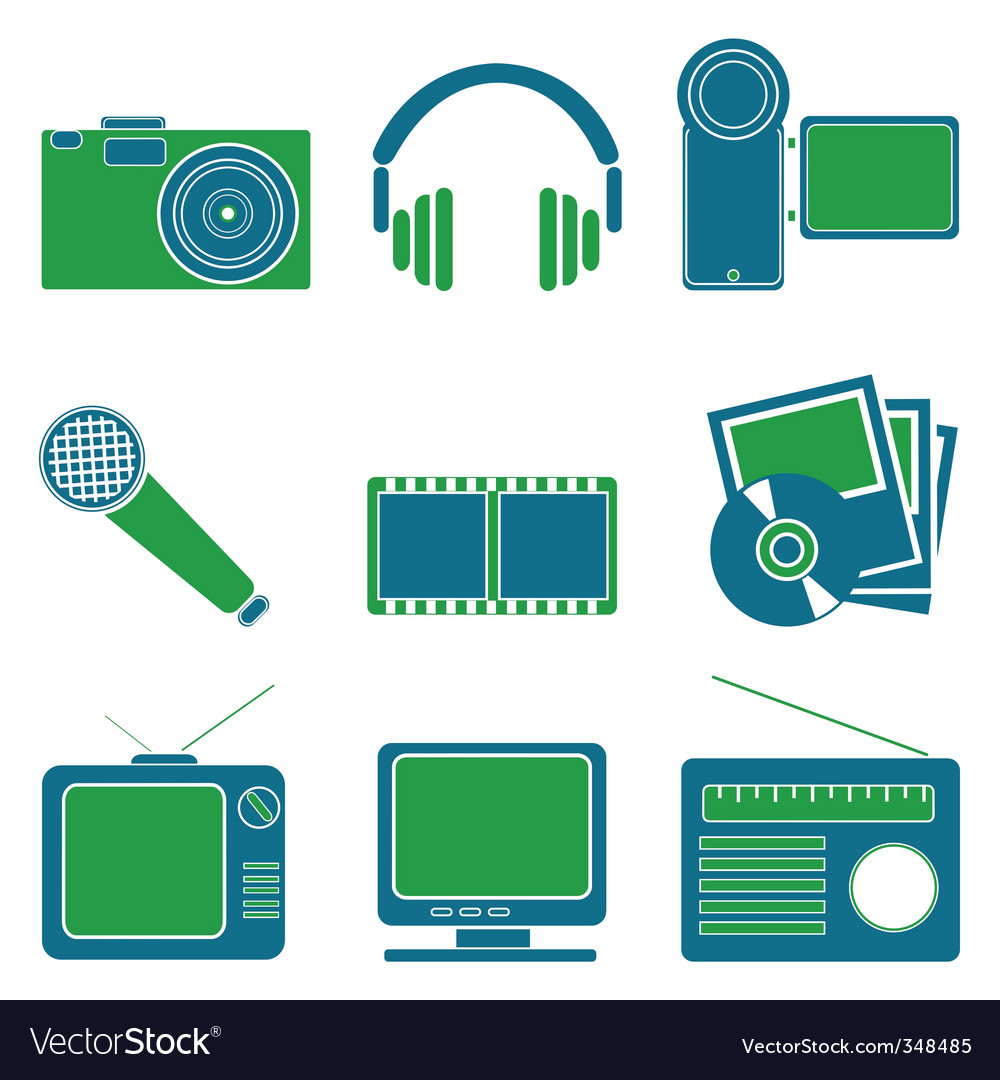 Entertainment symbols vector | Price: 1 Credit (USD $1)