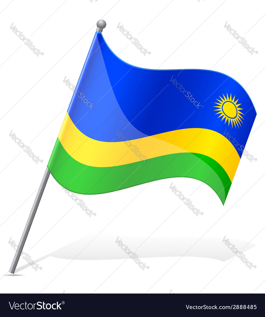 Flag of rwanda vector | Price: 1 Credit (USD $1)