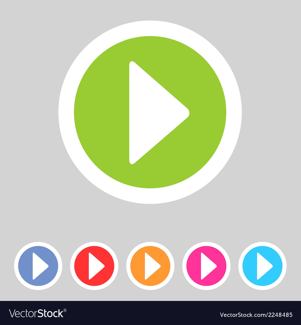 Flat game graphics icon play vector | Price: 1 Credit (USD $1)