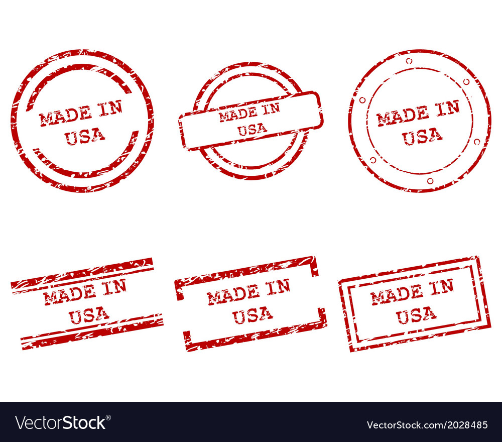 Made in usa stamps vector | Price: 1 Credit (USD $1)