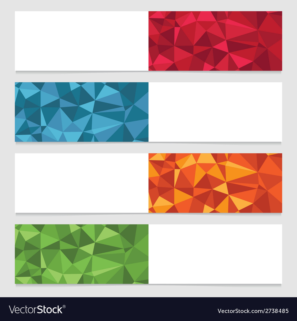 Polygon banners vector | Price: 1 Credit (USD $1)