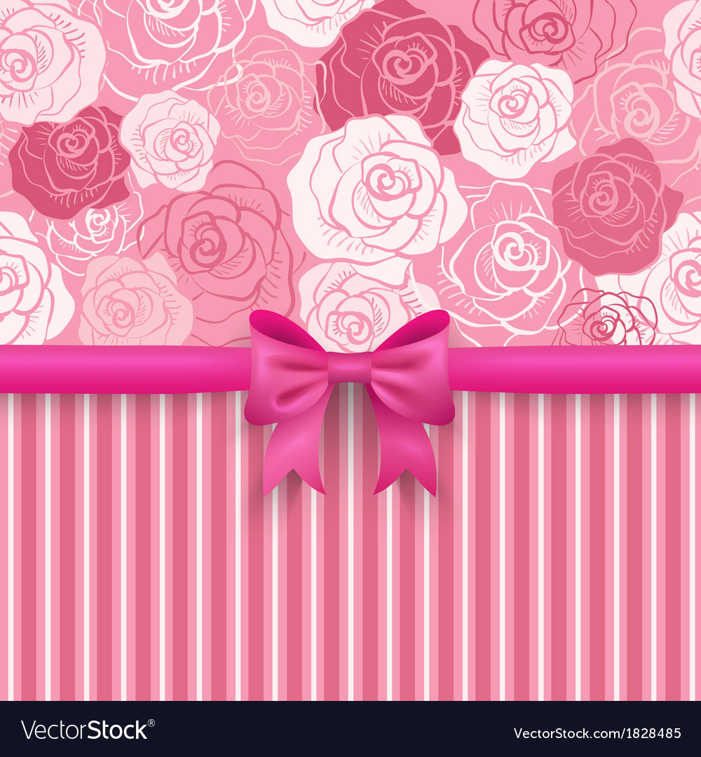 Romantic seamless background greeting card vector | Price: 1 Credit (USD $1)