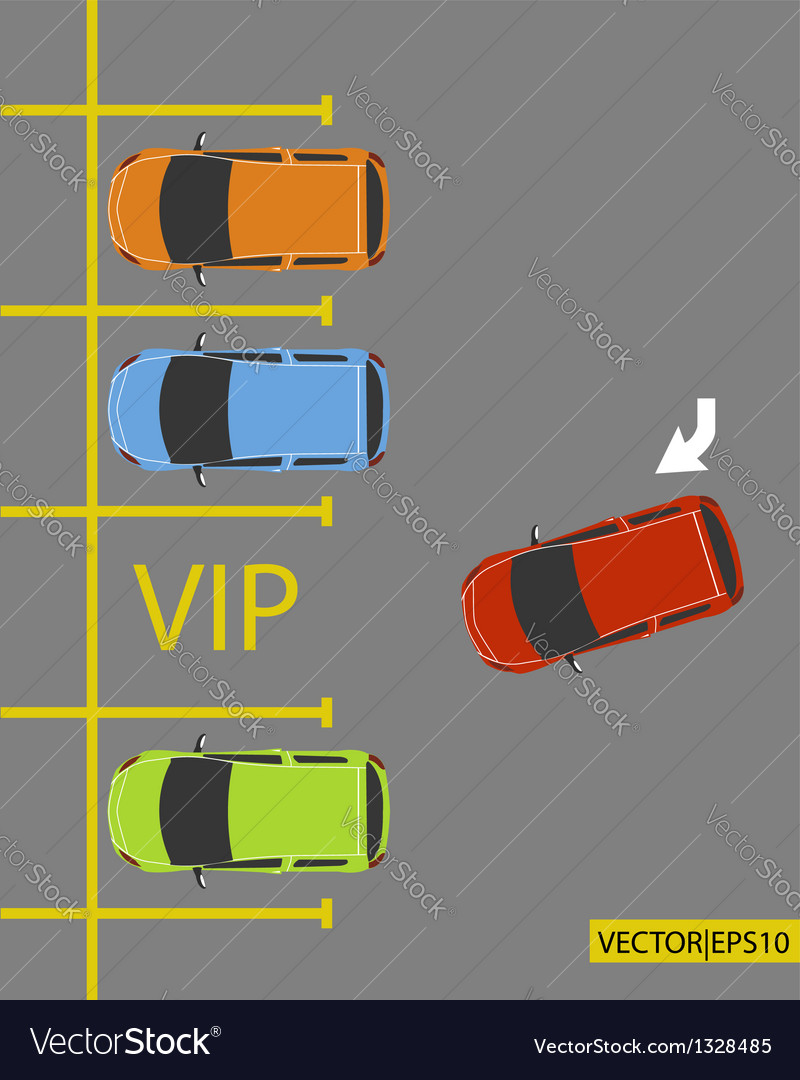 Vip parking vector | Price: 1 Credit (USD $1)