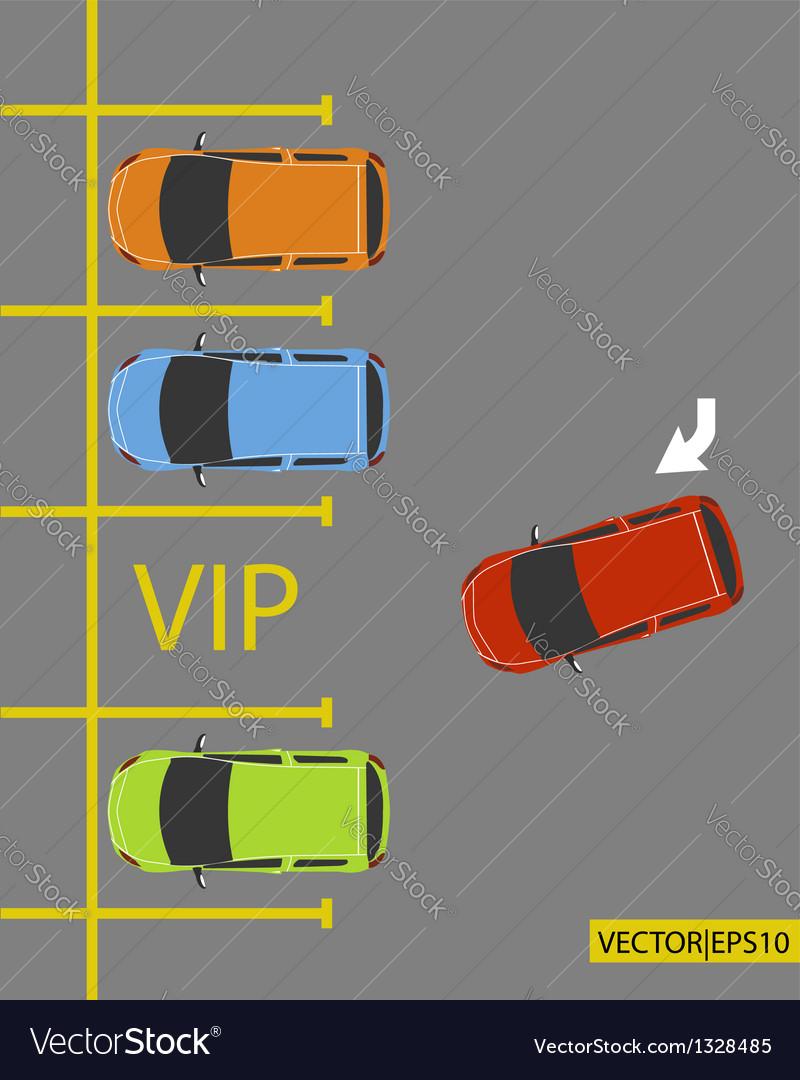 Vip parking vector | Price: 1 Credit (USD $1)