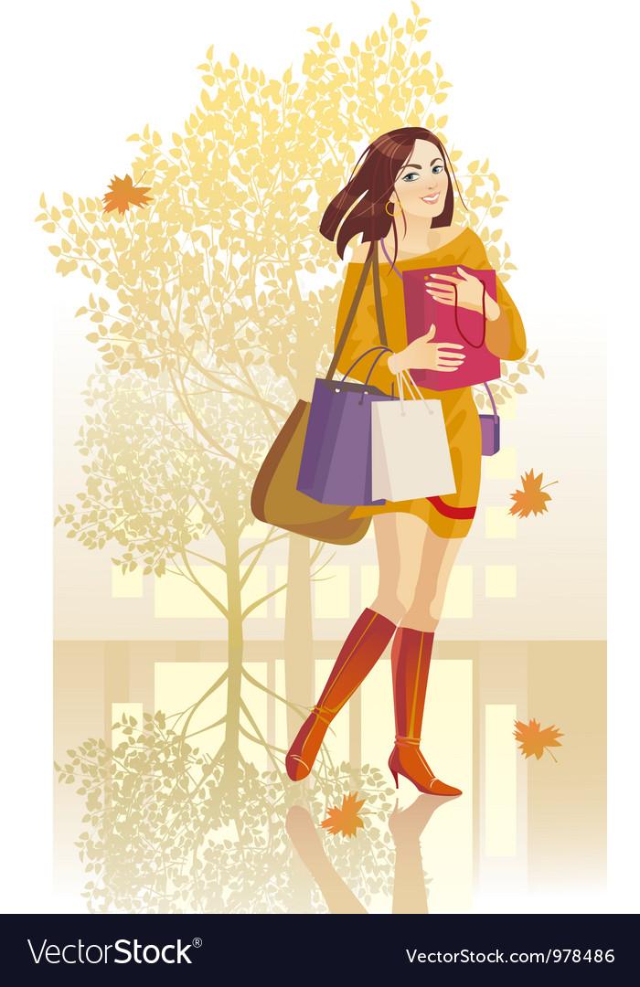 Autumn girl vector   Price: 3 Credit (USD $3)