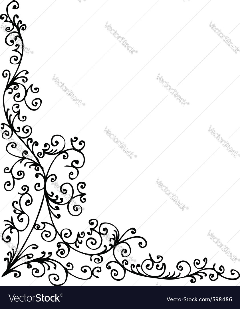 Baroque pattern vector | Price: 1 Credit (USD $1)
