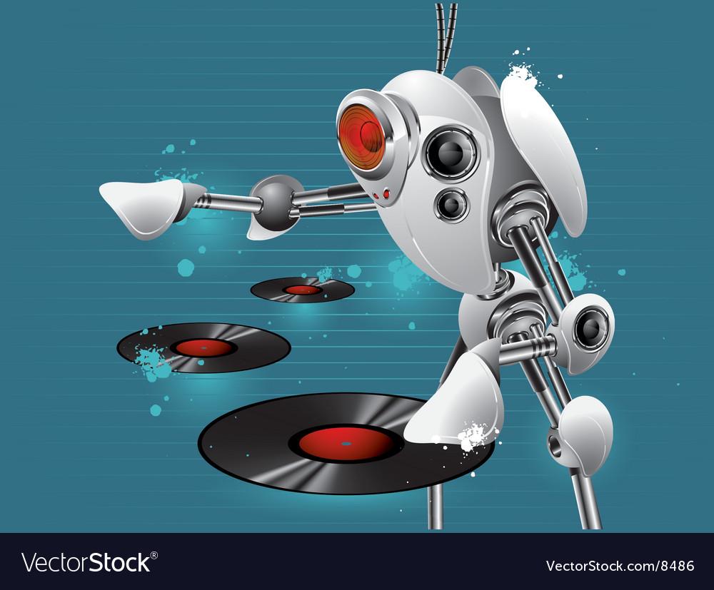 Dj robot vector