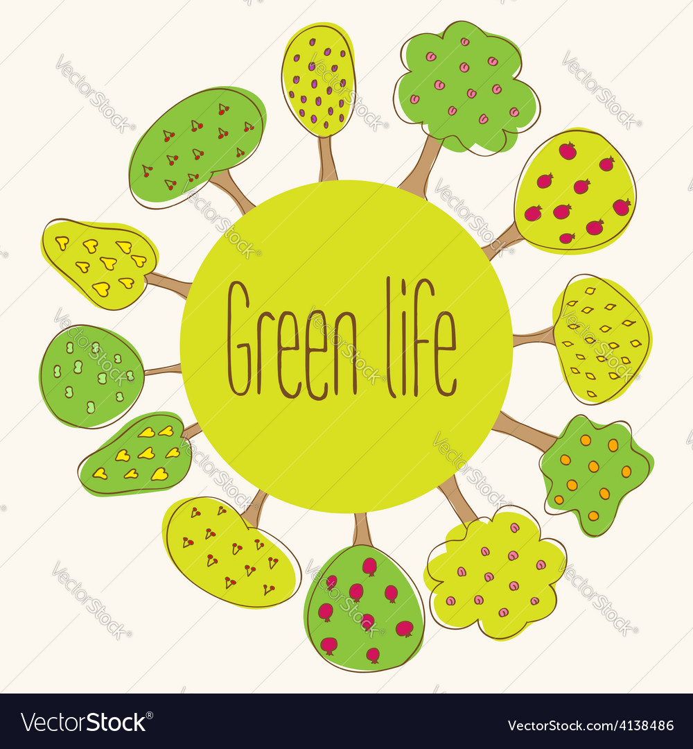 Green planet concept vector | Price: 1 Credit (USD $1)