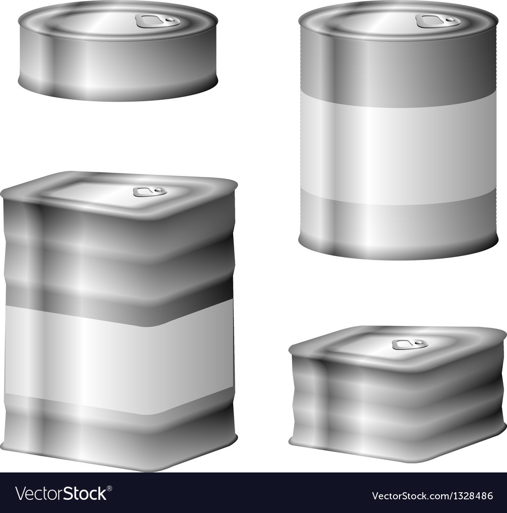Tin conserve can set vector | Price: 1 Credit (USD $1)
