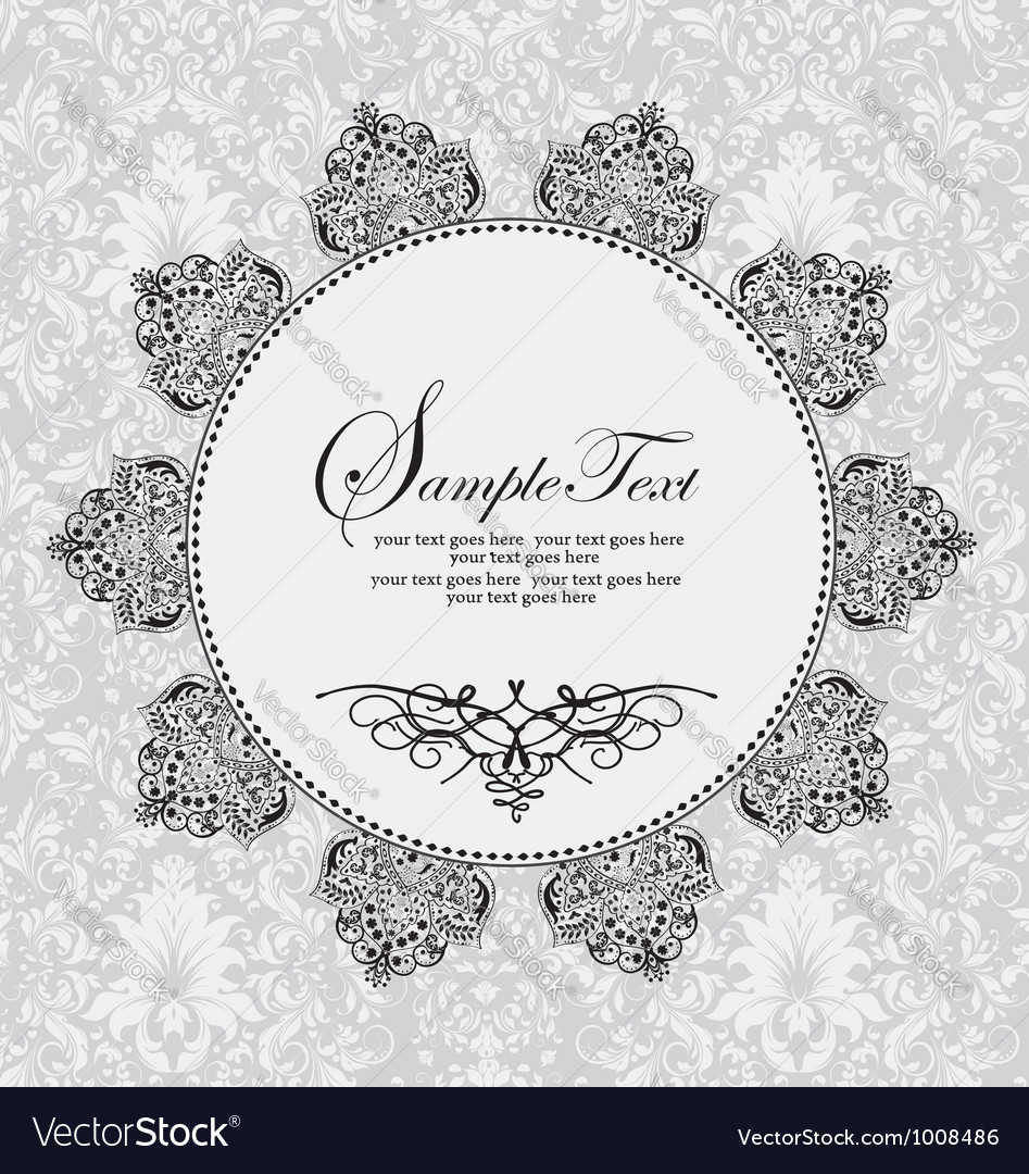 Vintage frame with flowers  background vector | Price: 1 Credit (USD $1)